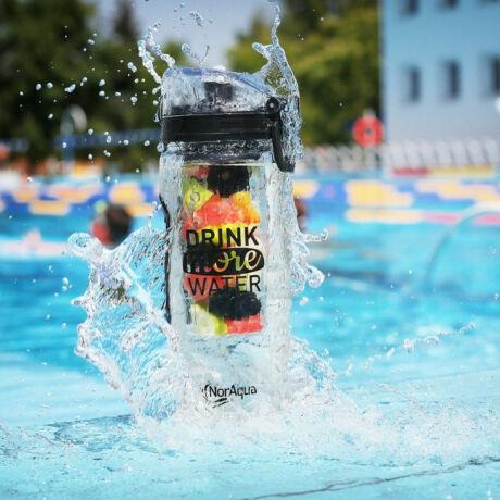 Motivációs kulacs, BPA mentes műanyag palack